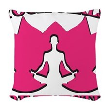 Yoga Girls are Twisted Woven Throw Pillow