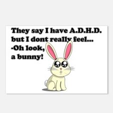 ADHD bunny Postcards (Package of 8)