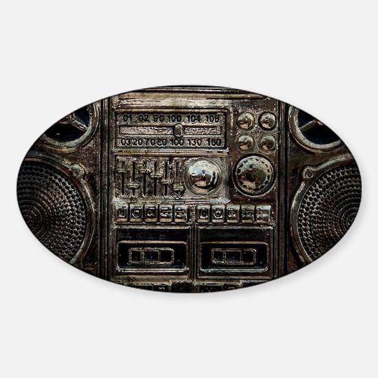 RETRO BOOMBOX Sticker (Oval)