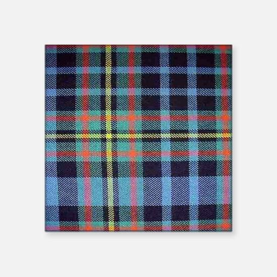"""MacLellan Tartan Square Sticker 3"""" x 3"""""""