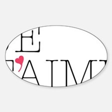Je Taime Sticker (Oval)
