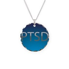 PTSD Necklace Circle Charm