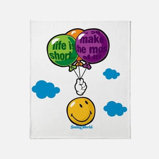 Ballon Smiley Throw Blanket