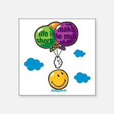 "Ballon Smiley Square Sticker 3"" x 3"""