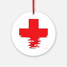 Lifeguard (Rippled) Round Ornament