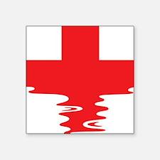 "Lifeguard (Rippled) Square Sticker 3"" x 3"""