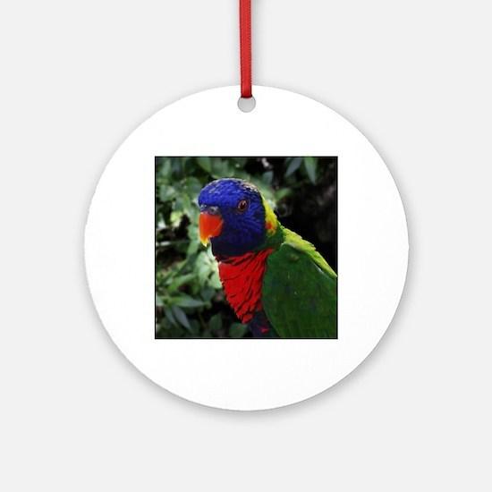 Rainbow Lorikeet Round Ornament