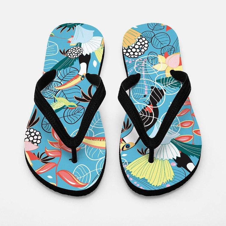 Tropical Toucans Flip Flops