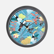 Tropical Toucans Wall Clock
