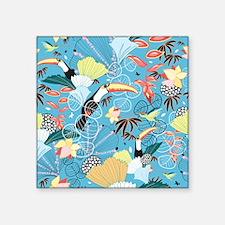 "Tropical Toucans Square Sticker 3"" x 3"""