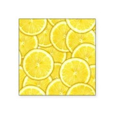 "Lemon Slices Square Sticker 3"" x 3"""