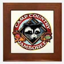 Camp Country PNG Logo Framed Tile