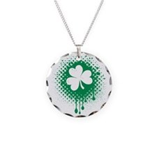 Irish Shamrock grunge Necklace
