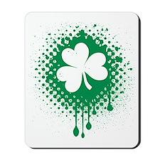 Irish Shamrock grunge Mousepad