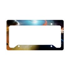 Full Remixed Double LP Graphi License Plate Holder