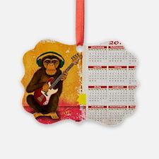 funky monkey calendar Ornament