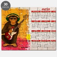funky monkey calendar Puzzle