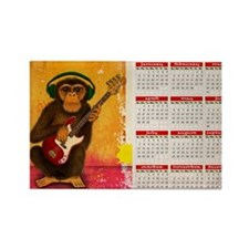 funky monkey calendar Rectangle Magnet