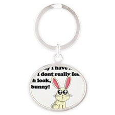 ADD bunny Oval Keychain