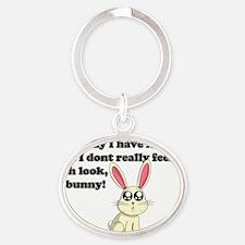 ADD bunny Oval Keychain
