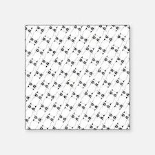 "Pissy Cat Lines Square Sticker 3"" x 3"""