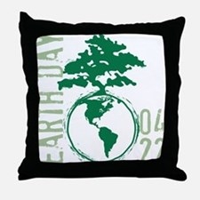 Earth Day 04/22 Throw Pillow