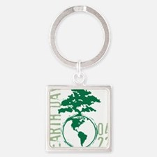 Earth Day 04/22 Square Keychain