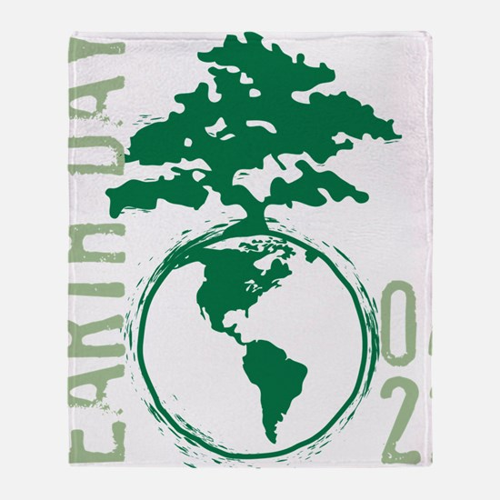 Earth Day 04/22 Throw Blanket