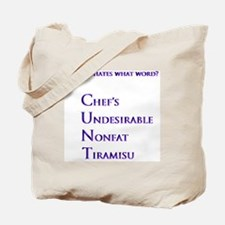 My girl hates what word? Tote Bag