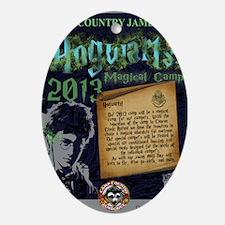 Hogwarts Poster Oval Ornament