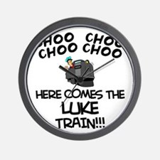 Luke Train Wall Clock