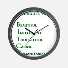 Youre right, I am a BITCH Wall Clock