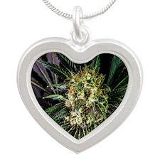 Full Leaf Spectrum Silver Heart Necklace