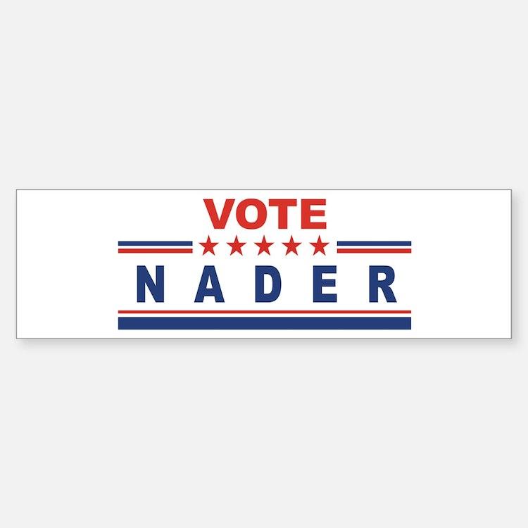 Ralph Nader in 2008 Bumper Bumper Bumper Sticker