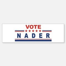 Ralph Nader in 2008 Bumper Car Car Sticker