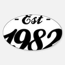 Established 1982 - Birthday Decal