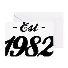 Established 1982 - Birthday Greeting Card