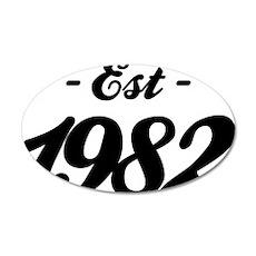 Established 1982 - Birthday 35x21 Oval Wall Decal