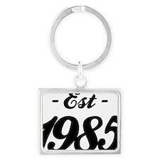 Established 1985 - Birthday Landscape Keychain