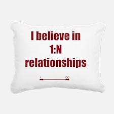 I believe in 1:N relatio Rectangular Canvas Pillow
