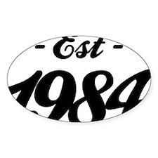 Established 1984 - Birthday Decal