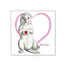 "Heart Hands Square Sticker 3"" x 3"""
