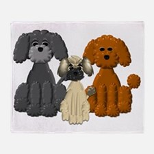 TINY POODLE PACK TRIO Throw Blanket