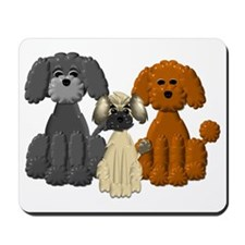 TINY POODLE PACK TRIO Mousepad