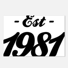 Established 1981 - Birthd Postcards (Package of 8)