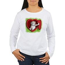 Heart door T-Shirt