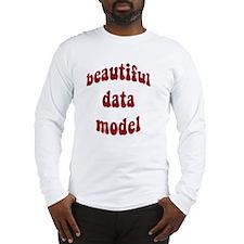 beautiful data model (red) Long Sleeve T-Shirt