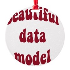 beautiful data model (red) Ornament
