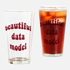 beautiful data model (red) Drinking Glass