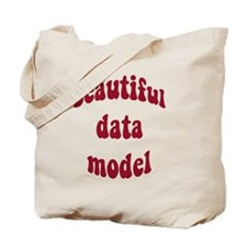 beautiful data model (red) Tote Bag